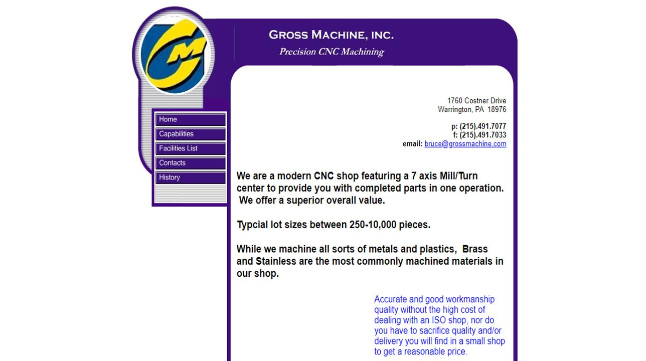Gross Machine, Inc.