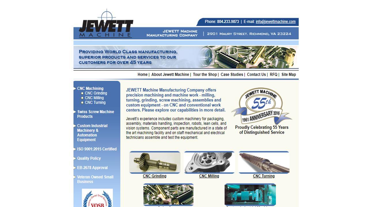 JEWETT Machine Manufacturing Company