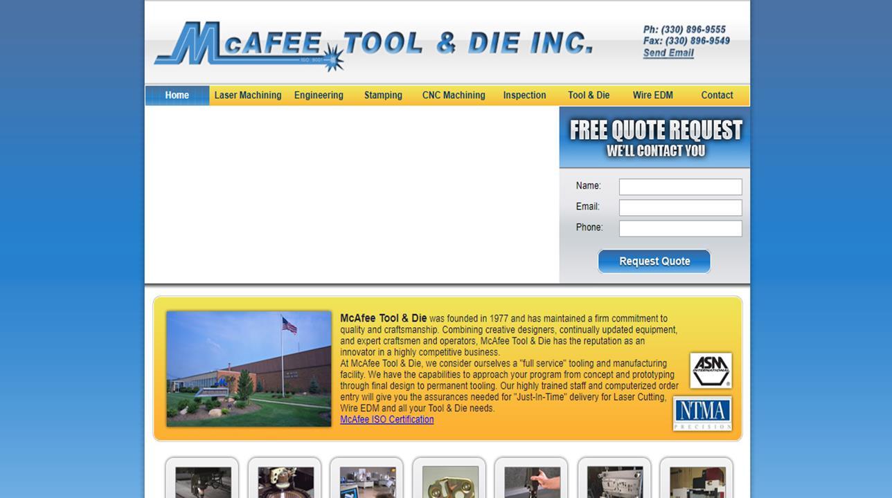 McAfee Tool & Die Inc