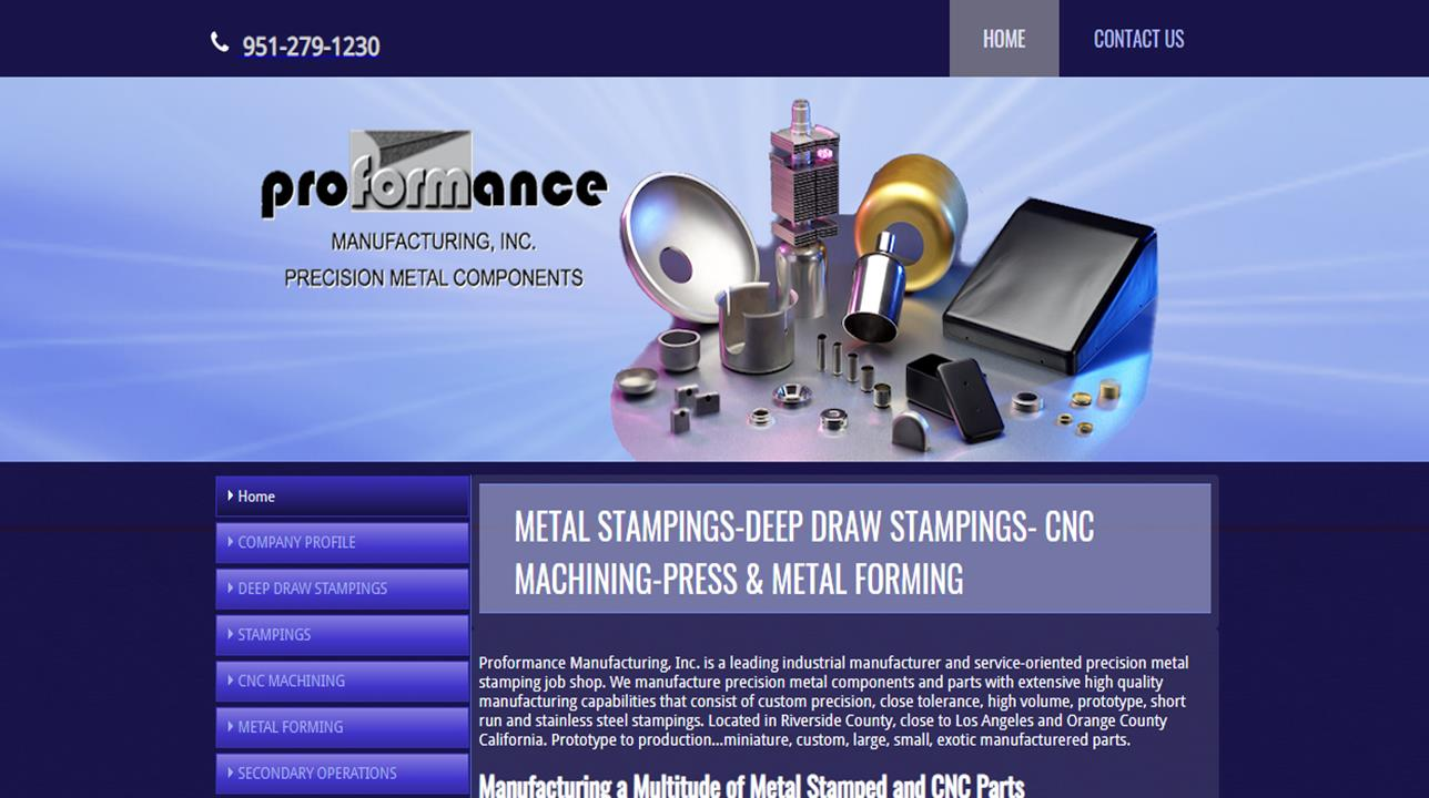 Proformance Manufacturing, Inc.