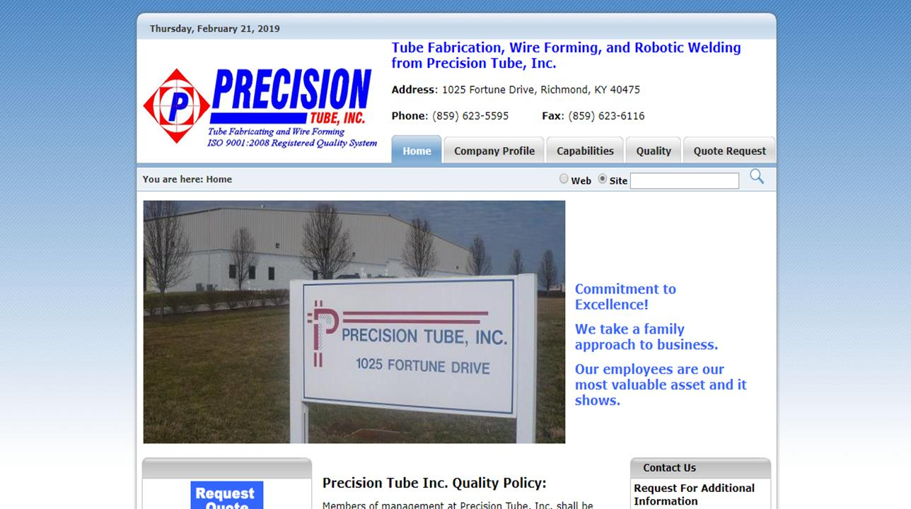 Precision Tube, Inc.