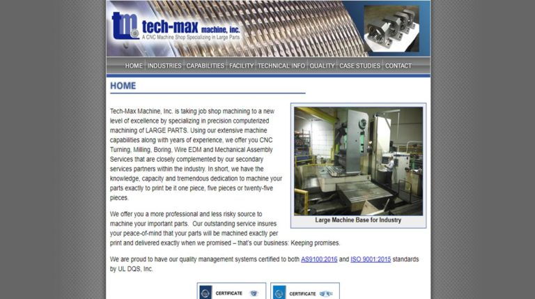 Tech-Max Machine & Mfg., Inc.
